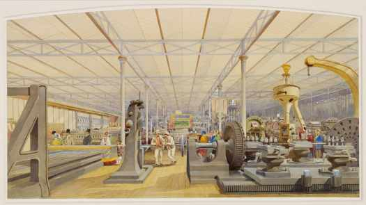 Louis Haghe - The Great Exhibition - Moving Machinery 1851