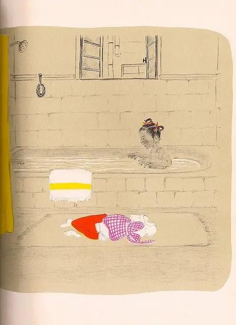 Marie Hall Ets, 1960 bathroom