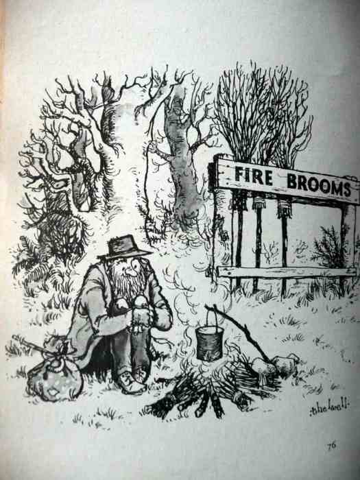 Norman Thelwell (British 1923 - 2004) - possibly the most popular cartoonist in the U.K. post WW II fire brooms