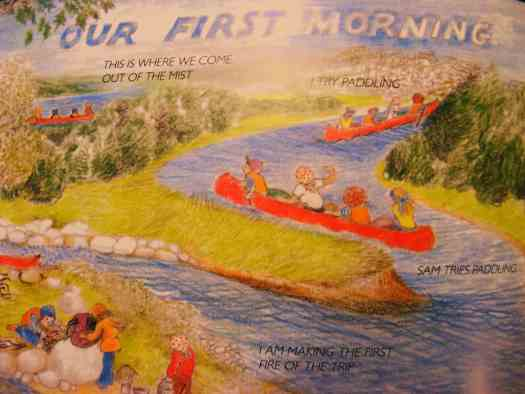 Three Days on a River in a Red Canoe by Vera B. Williams our first morning