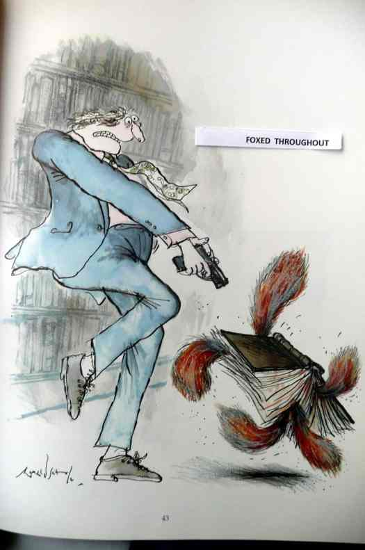 from 'Slightly Foxed - but still desirable - Ronald Searle's wicked world of Book Collecting' Souvenir Press 1989 9