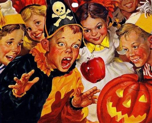 Charlie Dye (1906-1972) Halloween calendar illustration
