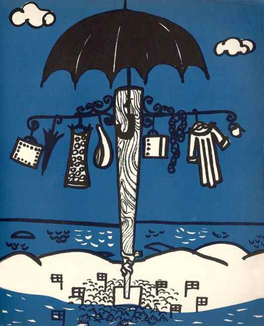 GREAT DAY IN NORWAY THE SEVENTEENTH OF MAY (1962) Malvin Neset umbrella