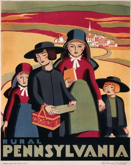 Rural Pennsylvania - WPA Poster - art by Katherine Milhous c1938