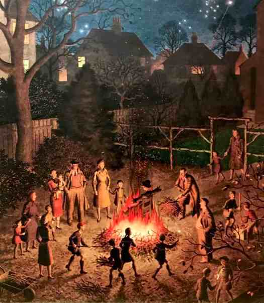 'Bonfire Night' (1951) John Bull magazine by Ronald Lampitt