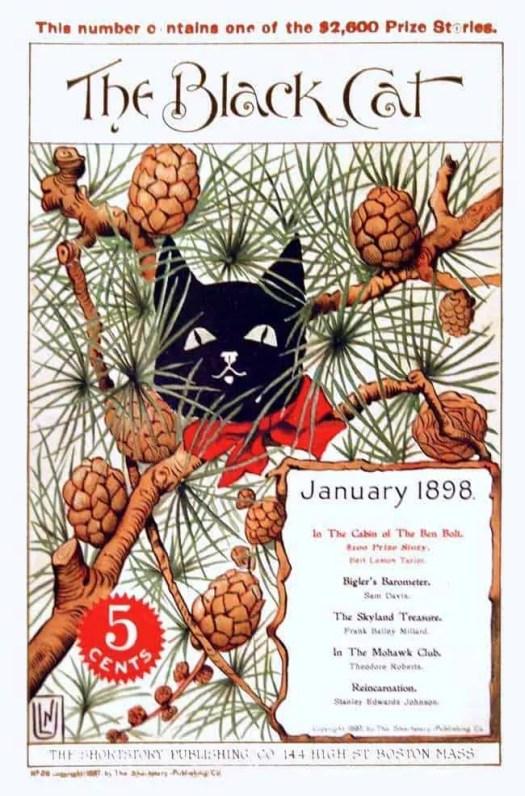 Black Cat magazine cover 1898-01 pine