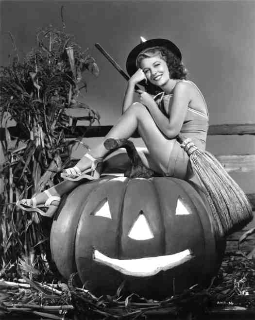 Halloween themed publicity photo featuring actress Anne Nagel