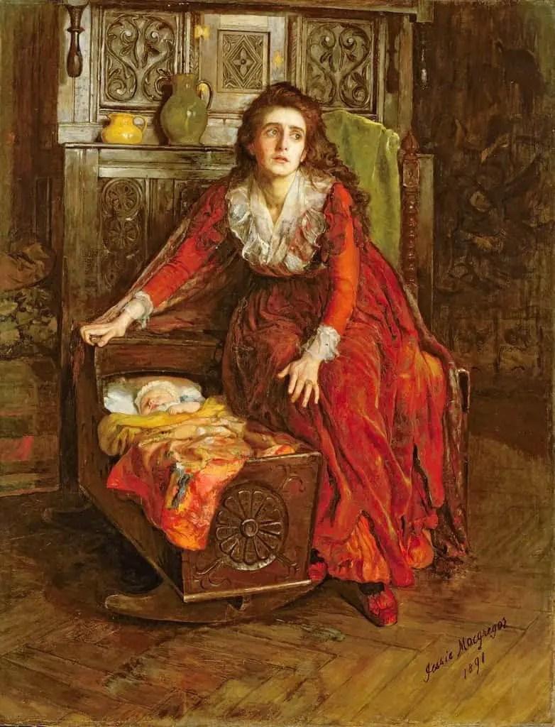 Jessie MacGregor - In the Reign of Terror 1891 baby cradle
