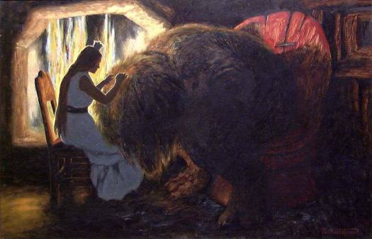 The Princess picking Lice from the Troll 1900 Theodor Kittelsen