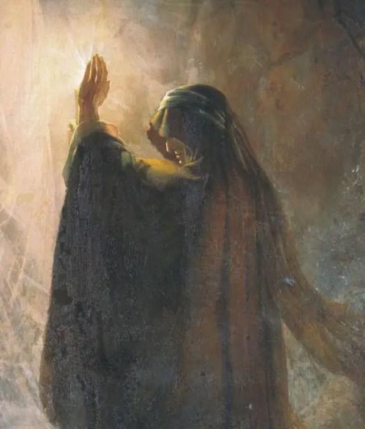 """The Endorian Sorceress Causes the Shade of Samuel"" (Martynov, Dmitry Nikiforovich, 1857)"