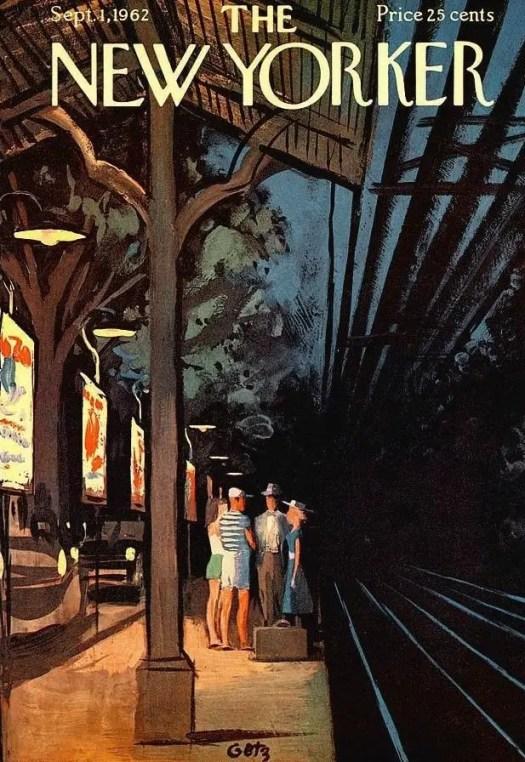 train station by Arthur Getz (1913-1996)