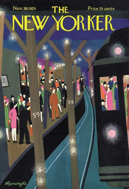Adolph K. Kronengold (1900-1986) 1929 New Yorker cover