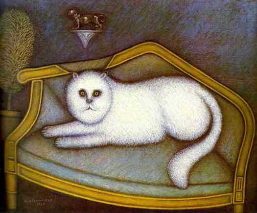 Angora cat (1937) by Morris Hirshfield