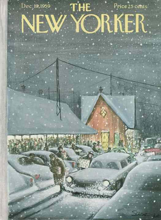 Charles Saxon, cover for The New Yorker, 1959