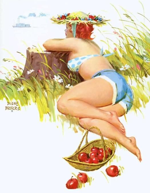 Duane Bryers - Hilda - November 1966 Hilda Calendar apples