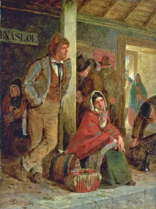 Erskine Nicol - The Emigrants 1864