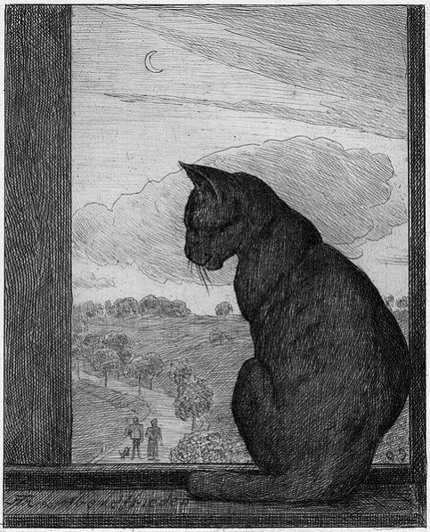 Etching by Hans Thoma (1839-1924)
