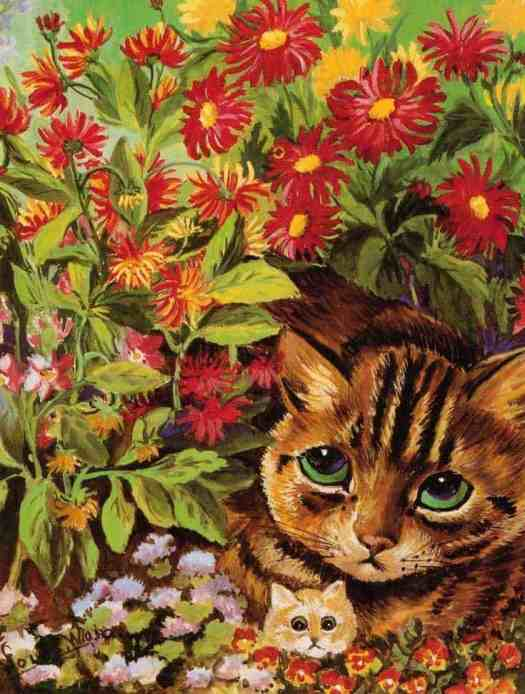 Flower Cats Louis Wain (1860-1939)