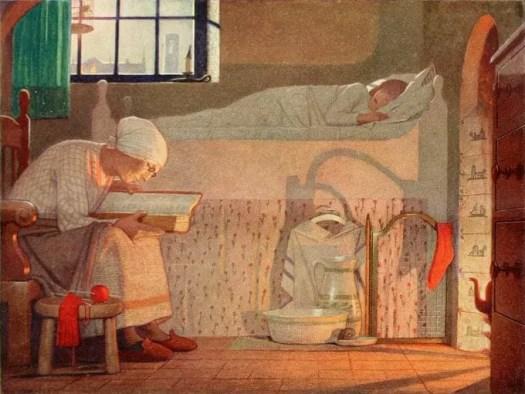 Frederick Cayley Robinson (1862-1927) bedroom