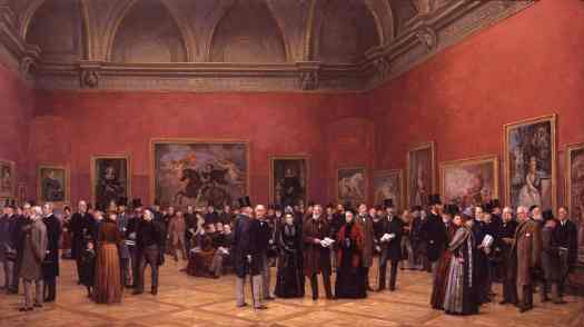 Henry Jamyn Brooks - Private View of the Old Masters Exhibition, Royal Academy 1888