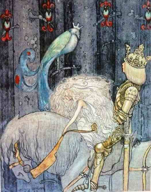 John Bauer (1882-1918) 'The Blue Bird'  Till Sagolandet (To Fairyland) 1911