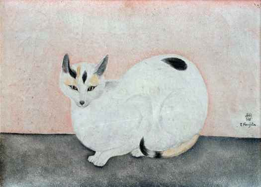 Leonard Tsuguharu Foujita (French of Japanese origin, 1886-1968), White Cat, 1920, painting