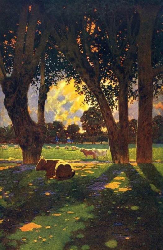 Maxfield Parrish 'The Doctrine of Divine Light' 1942