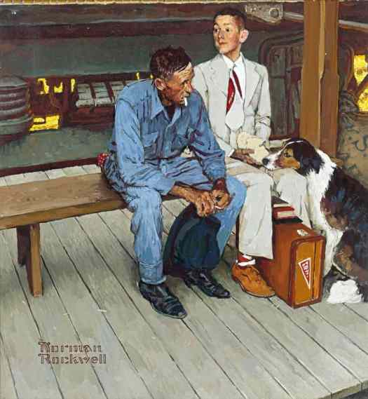 Norman Rockwell, Color Study for Breaking Home Ties, 1954, cover for The Saturday Evening Post