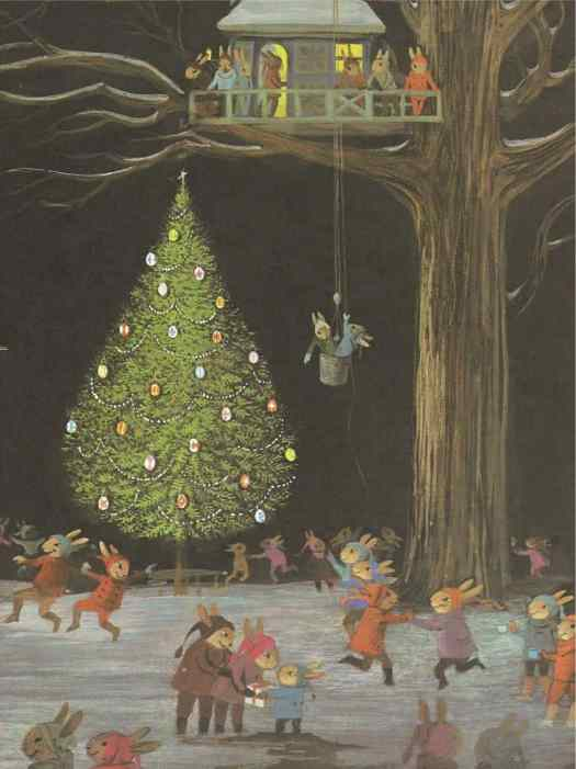 The Christmas Party by Adrienne Adams, 1978 tree house