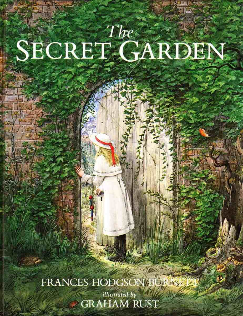 The Secret Garden cover by Graham Rust Mary looking in through the gate