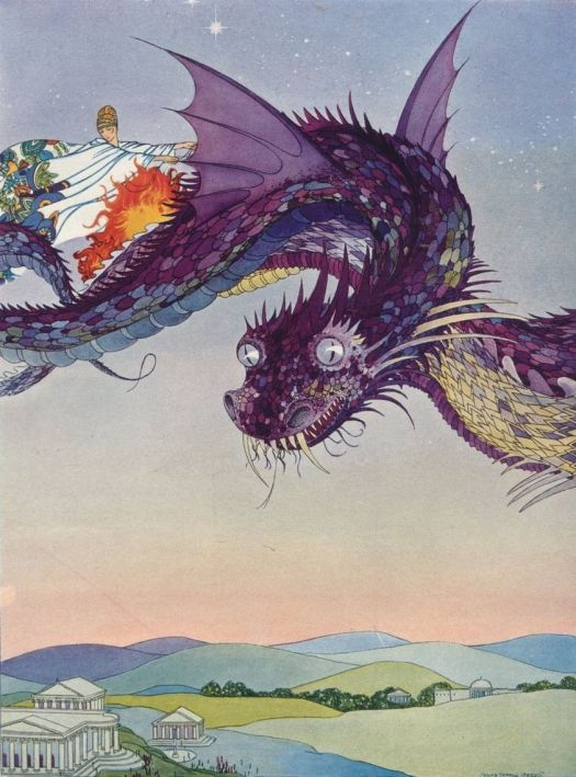 Virgina Frances Sterrett for TANGLEWOOD TALES by Nathaniel Hawthorne, 1921