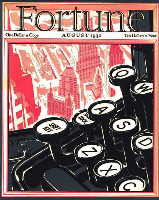 1930 August, cover by Walter Buehr two worlds