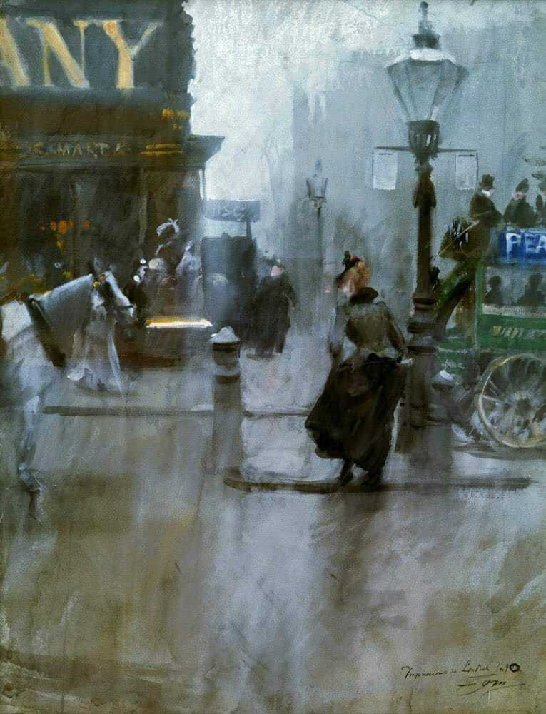 Anders Zorn (Swedish painter) 1860-1920 Impressions of London, 1890