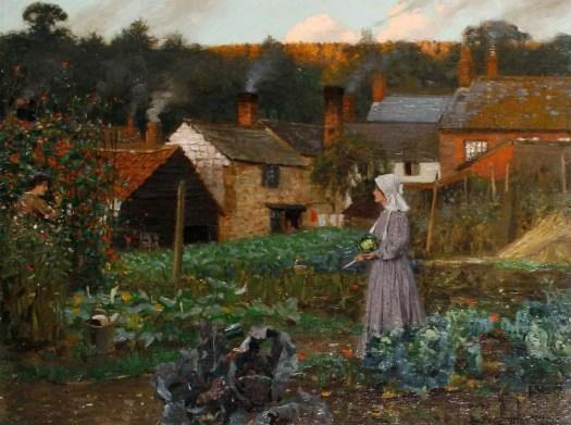 Arthur Herbert Buckland - In a Cottage Garden 1910