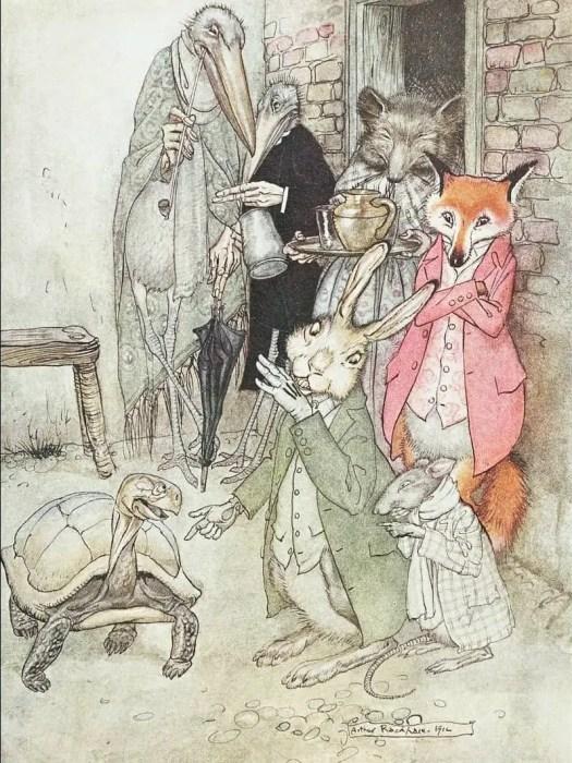 Arthur Rackham Illustration published in 'Aesop's Fables', London William Heinemann, 1912