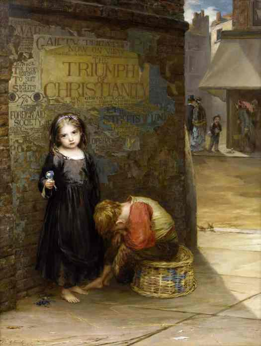 Augustus Edwin Mulready - Uncared For 1871 orphan