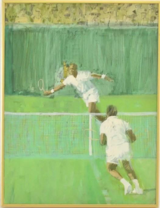 Bernie Fuchs tennis in Sports Illustrated