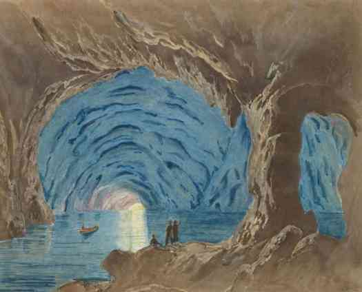 Blauwe Grot op Capri, Giorgio Sommer (attributed to), 1870, cave