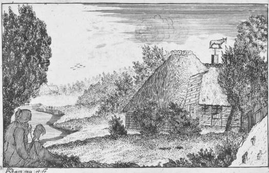 Boerderij met spinnende vrouw, Richard Adam, 1654 - c. 1720