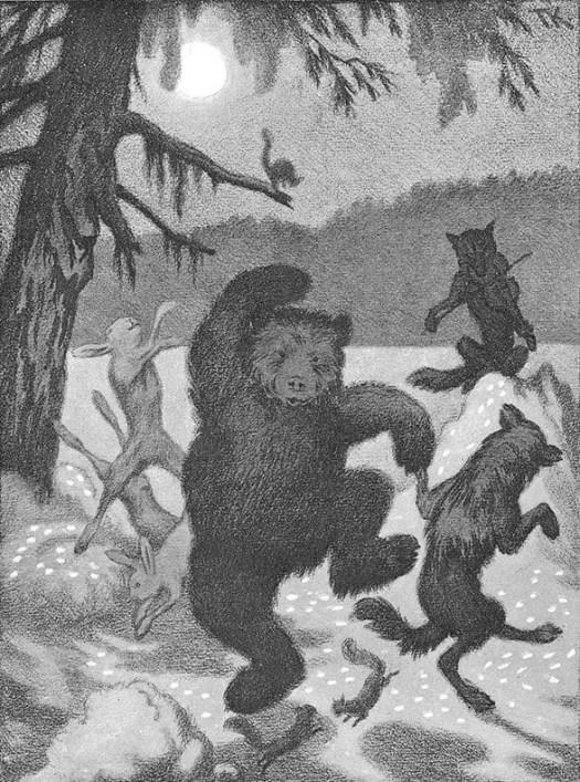 Dancing in the Moonlight Beams (for Th. Caspari) Theodor Kittelsen bears