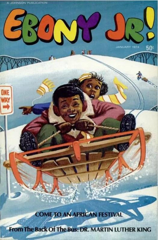 Ebony Jr January 1974. Illustration by Orville A. Hurt