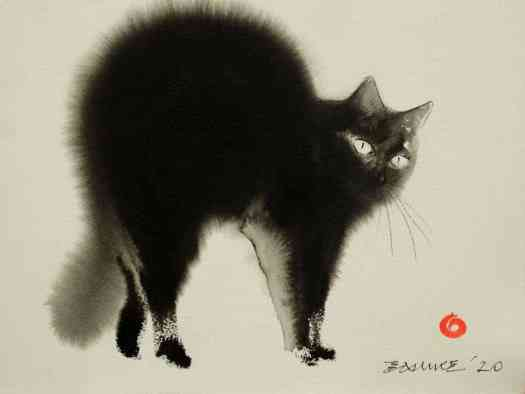 Endre Penovac Serbian artist cat