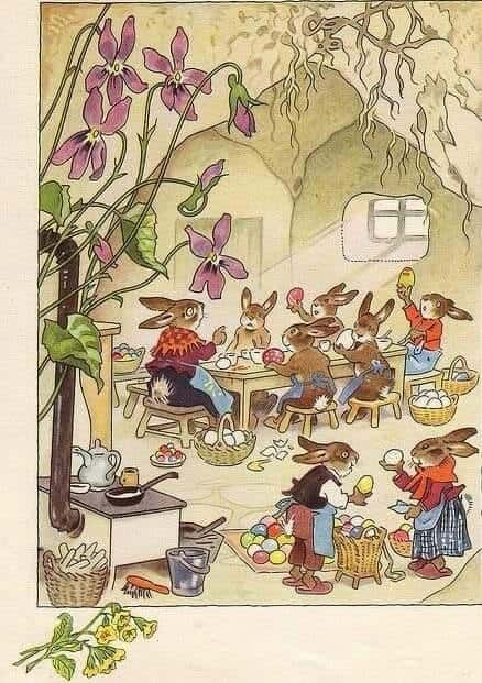 Fritz Baumgarten (1883-1966) Illustration for an Easter book by Erich Heinemann