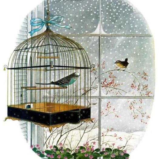 Gyo Fujikawa (American, 1908-1998), 'Bird Talk', cover of The Saturday Evening Post, 1962