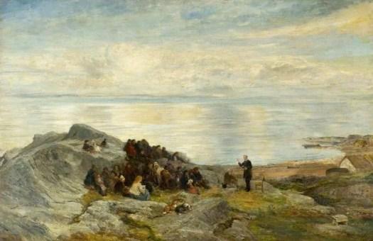 John MacWhirter - A Sermon by the Sea