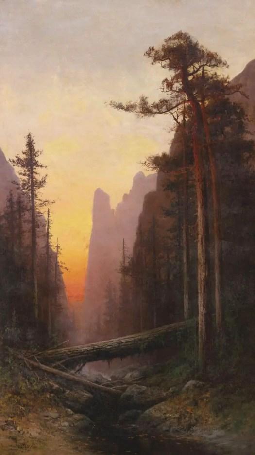 Julian Walbridge Rix (1850 - 1903) Sunset in Yosemite