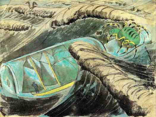 LADY FILMY FERN or The Voyage of the Window Box (early 1930s and 1980) Edward Bawden waves