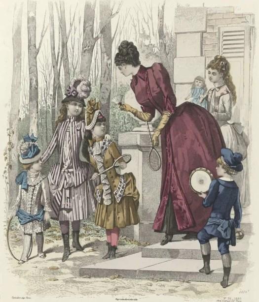 Le Moniteur de la Mode, 1885, No. 2224e, No. 39 Costumes d'Enfants (...), anonymous, 1885