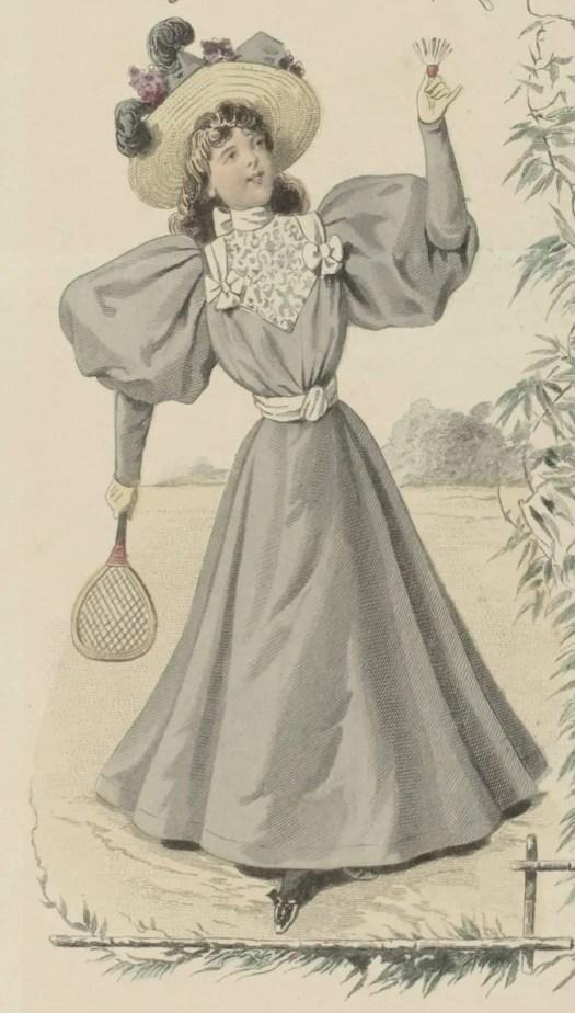 Le Moniteur de la Mode, 1895, Nr. 3128e, No. 17 Garnitures et Passementeries (...), Guido Gonin, 1895 tennis