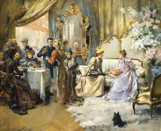 Madeleine Lemaire - Le Gouter au Salon du Peintre 1891